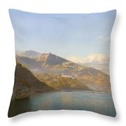 Massa And Bay Of Naples Throw Pillow