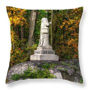 Massachusetts At Gettysburg - 37th Mass. Infantry Autumn Early-evening Sedgwick Avenue Throw Pillow