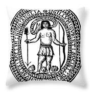 Massachusetts Bay Colonyseal, 1628 Throw Pillow