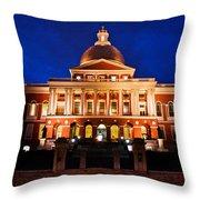 Massachusetts State House Throw Pillow by John McGraw