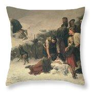 Massacre Of Glencoe, 1883-86 Throw Pillow
