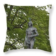Massasoit Chief Of The Wampanoag Tribe Throw Pillow