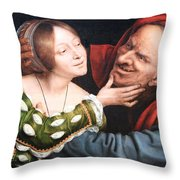 Massays' Ill Matched Lovers Or Badly Matched Lovers Throw Pillow