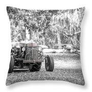 Massey Ferguson Tractor Throw Pillow