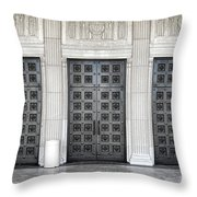 Massive Doors Throw Pillow