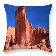 Massive Fisher Tower Throw Pillow
