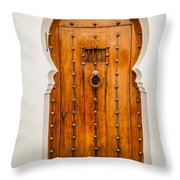 Massive Wooden Door Throw Pillow