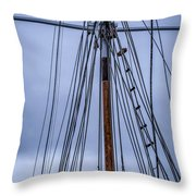 Mast And Rigging Series Number Two Throw Pillow