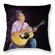 Master In The Spotlight Throw Pillow