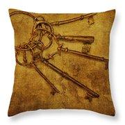 Master Keys Throw Pillow