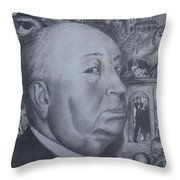Master Of Suspense Throw Pillow by Jeremy Reed