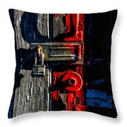 Master Of The Old Red Barn Throw Pillow