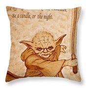 Master Yoda Wisdom Throw Pillow