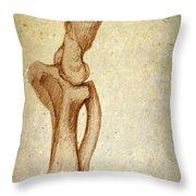 Mastodon Leg Bones Throw Pillow