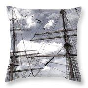 Masts Of Sailing Ships Throw Pillow