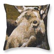 Mat-su Moose Throw Pillow