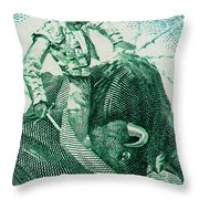 Matador 3 Throw Pillow
