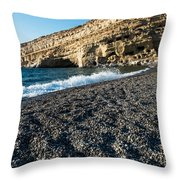 Matala Beach Throw Pillow