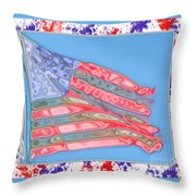 Matalic Flag Throw Pillow