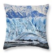 Matanuska Glacier Throw Pillow