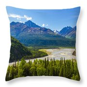 Matanuska River Throw Pillow