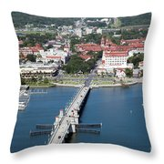 Matanzas Harbor St Augustine Florida Throw Pillow