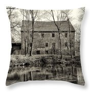Mather's Grist Mill Throw Pillow