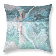 Mating Dance Of The Swan Throw Pillow