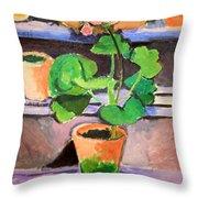 Matisse's Pot Of Geraniums Throw Pillow