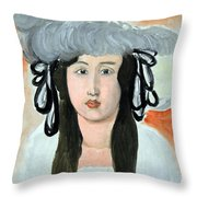 Matisse's The Plumed Hat Throw Pillow