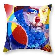 Matisyahu In Circles Throw Pillow