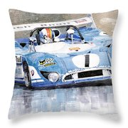 1973 Matra Simca 670b Francois Cevert Throw Pillow