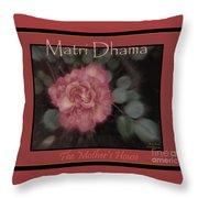 Matri Dhama Rose Design Throw Pillow