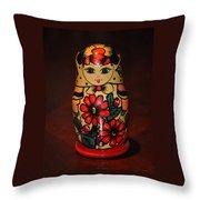 Matryoshka Little Matron Throw Pillow