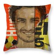 Mats Hummels Throw Pillow by Corporate Art Task Force