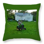 Matt Loves Mowing Throw Pillow