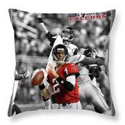Matt Ryan Falcons Throw Pillow