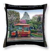 Matterhorn Mountain Disneyland Collage Throw Pillow