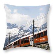 Matterhorn Railway Zermatt Switzerland Throw Pillow by Matteo Colombo