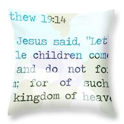 Matthew 19 Throw Pillow
