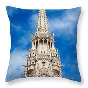 Matthias Church Bell Tower In Budapest Throw Pillow