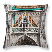 Matthias Church In Budapest Throw Pillow