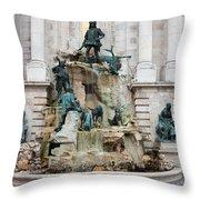 Matthias Fountain In Budapest Throw Pillow