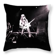 Matthias Jabs Scorpions Throw Pillow