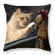 Matty And Rooster #1 Throw Pillow