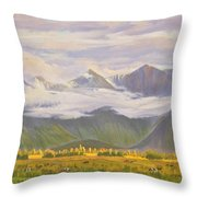 Matukituki Valley Throw Pillow