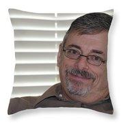 Mature Man Looking At Viewer Throw Pillow