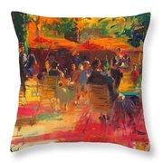 Maturing Sun, Paris Oil On Canvas Throw Pillow