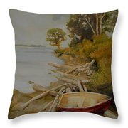 Maude Bay Throw Pillow by Sue  Darius