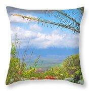 Maui Botanical Garden Throw Pillow